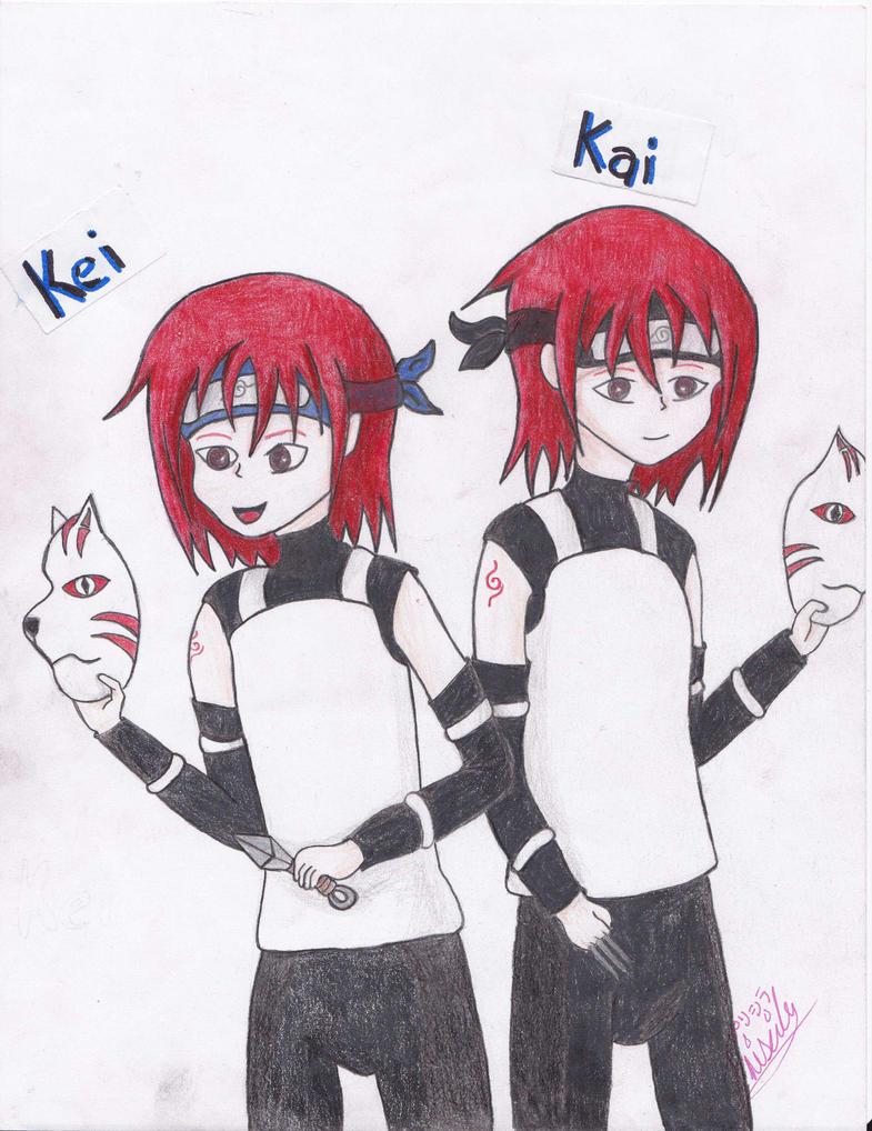 Kai y Kei Uzumaki by SasuKarinSui