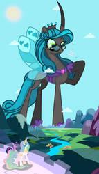 Mega Duchess Chrysalis Visits Equestria [Macro]