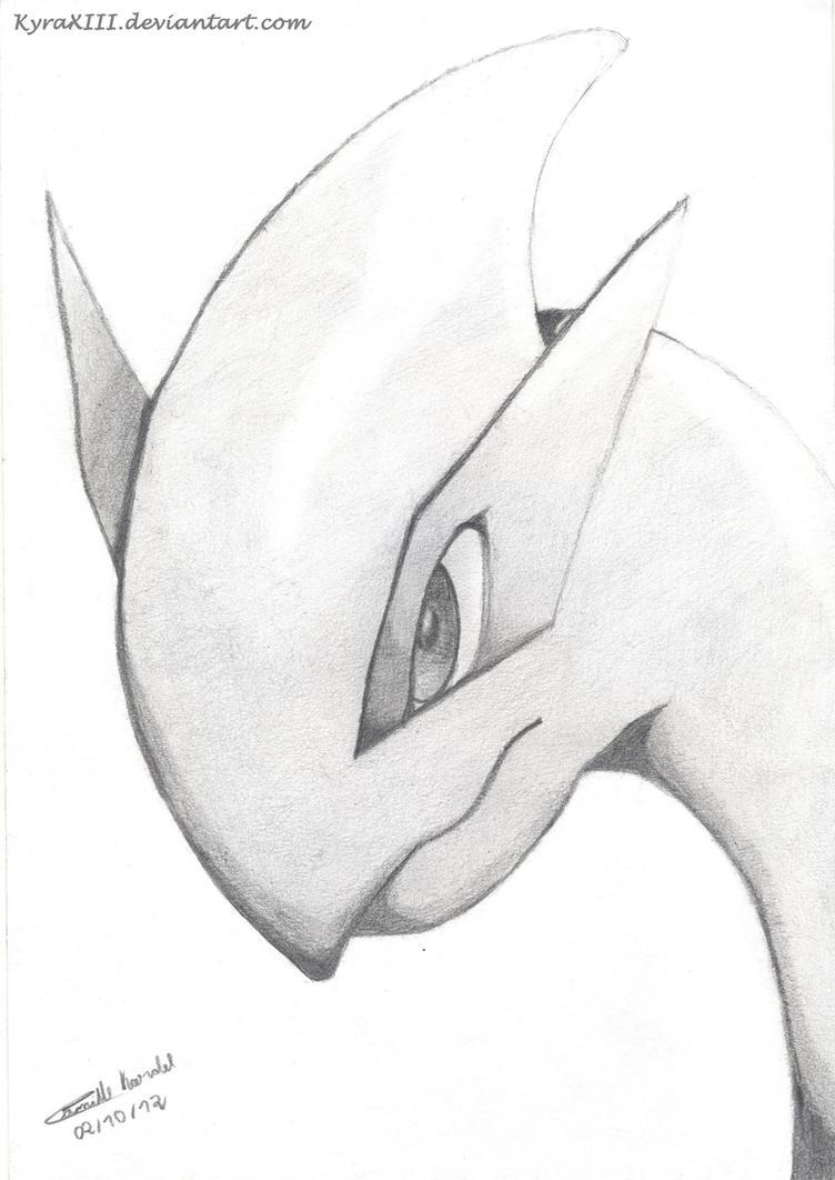Lugia Portrait - Pokemon by KyraXIII
