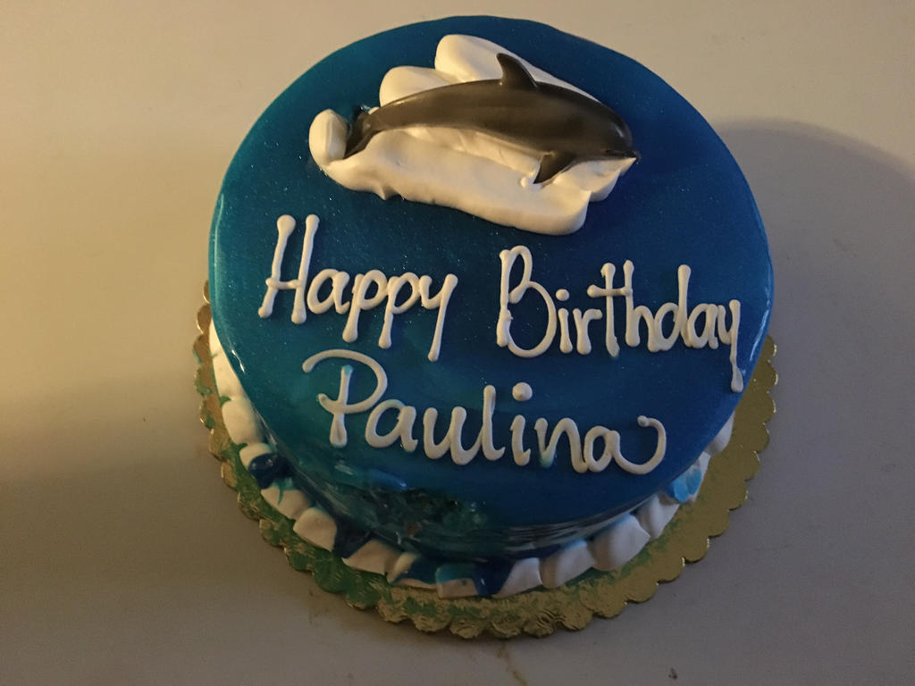 My Dolphin Birthday Cake By Smileydolphingirl On Deviantart