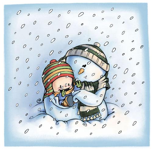 snowman by ma4u4a