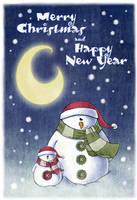 Christmas  card by ma4u4a