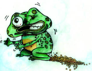 frog laying fucking eggs COLOR by TheJellyIsLoose