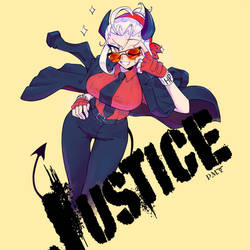 Justice the awesome demon