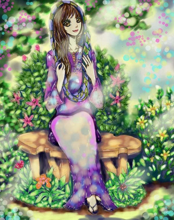 A Lady in A Secret Garden- Kesultanan Times by cahaya-petunjuk