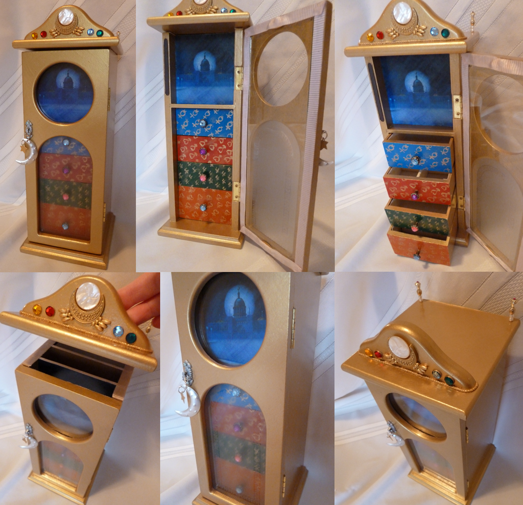 sailor moon inspired jewelry box by elynve on deviantart