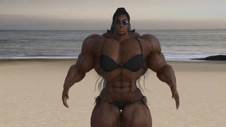 Tabitha on Musclebeach by aldebaran086