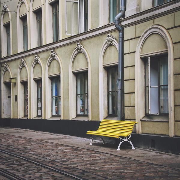 lonely bench by kiritani-akira
