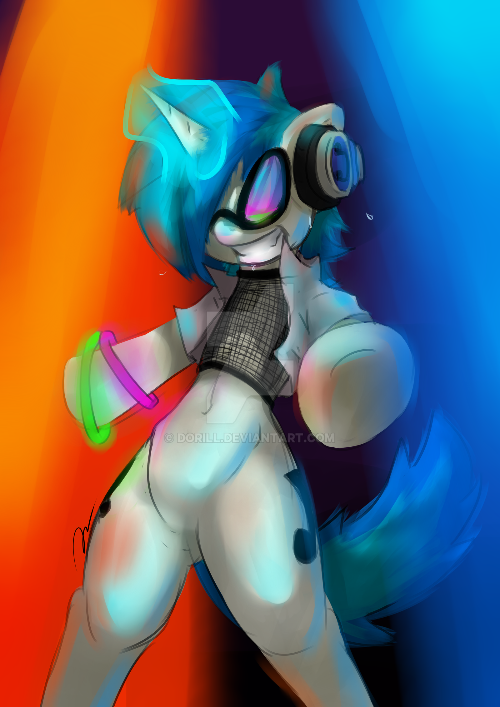 Vinyl Scratch - Pony Party by Dorill