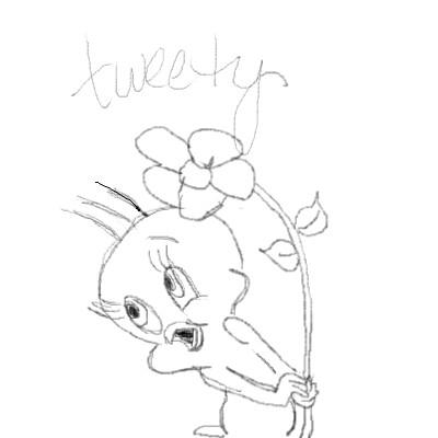 how to draw tweetie bird