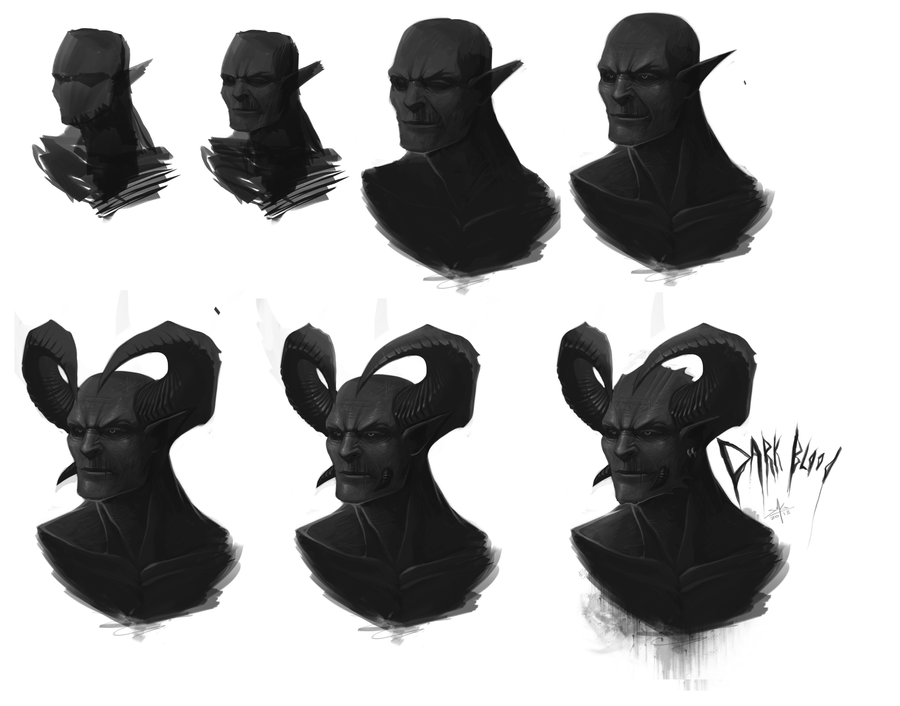 dark Blood Painting Process by DageThe3vil