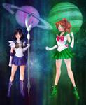 Sailor Saturn and Sailor Jupiter | Collab