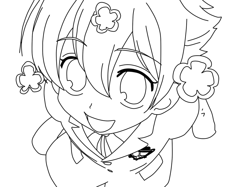 ouran highschool coloring pages - photo#2