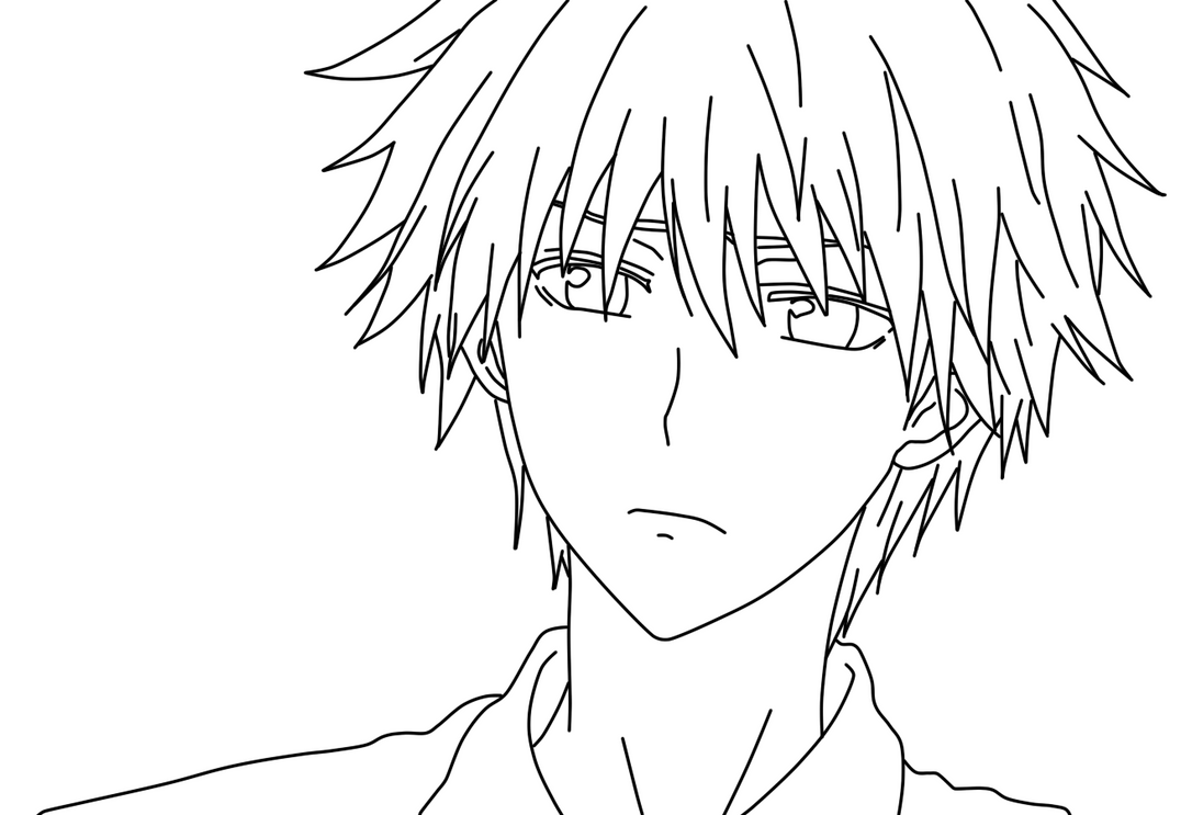 Usui Takumi Coloring Page By Doremefasoladedo On Deviantart Anime And Boy Coloring Pages Free