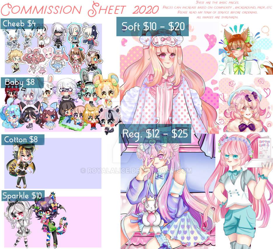 Commission Sheet 2020 =0P3N=