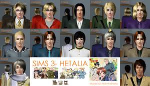 Sims 3- Hetalia by NokinhaNoka