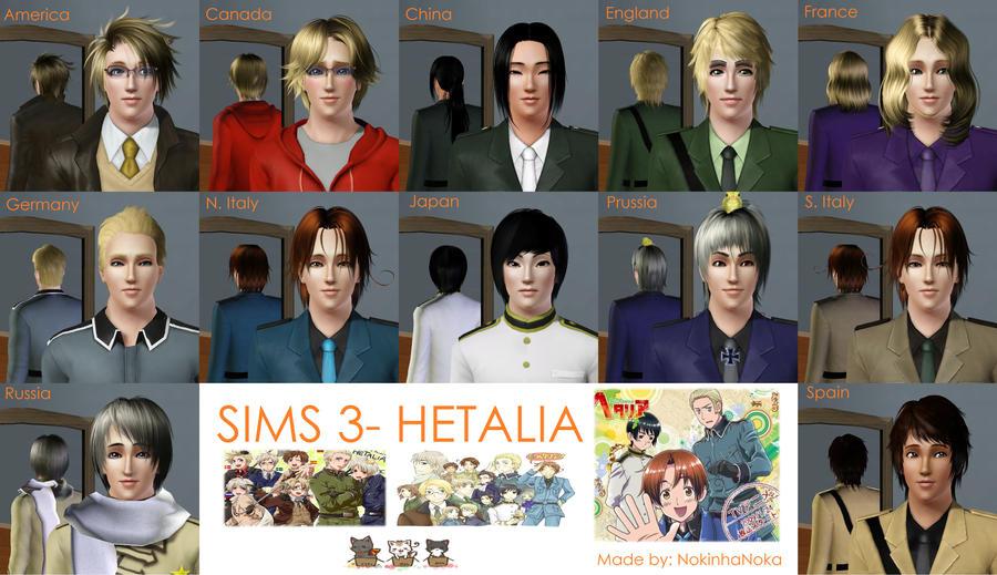 Sims 3 Hetalia By Nokinhanoka On Deviantart