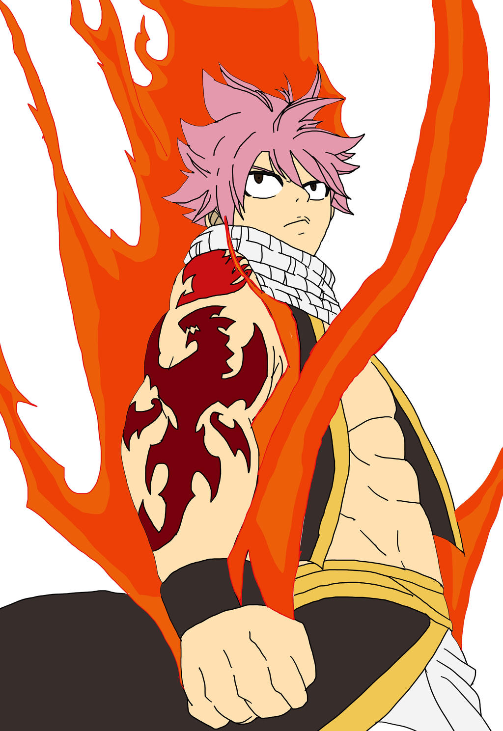 Natsu Fire Dragon King By Triton Demius On Deviantart