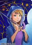 ACEO - Umbrella by firedaemon