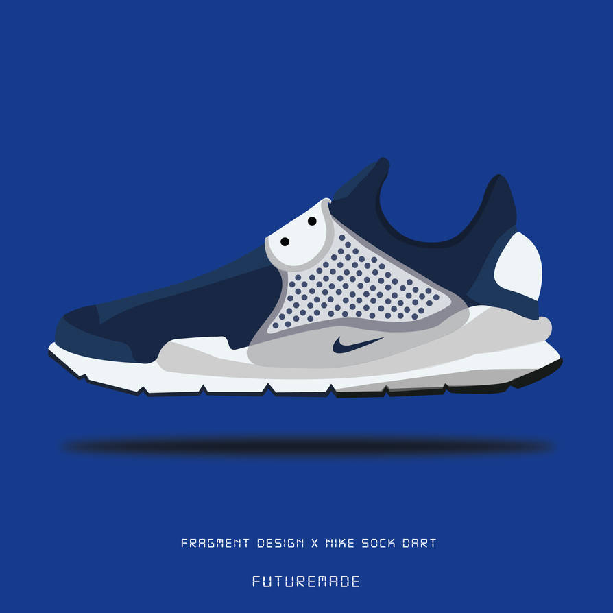 san francisco 643a5 71732 Nike Sock Dart Fragment Illustration by tunwayfuturemade on ...