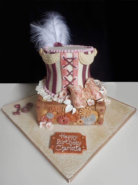 Steampunk birthday cake for Charlotte by CandyKnickerbocker