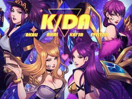 K/DA Skin League of legends by MaiuLive