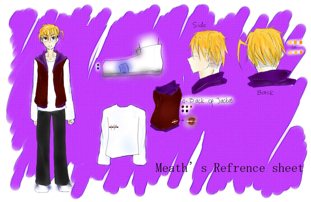 Meath's refrence sheet by MeganeMegao
