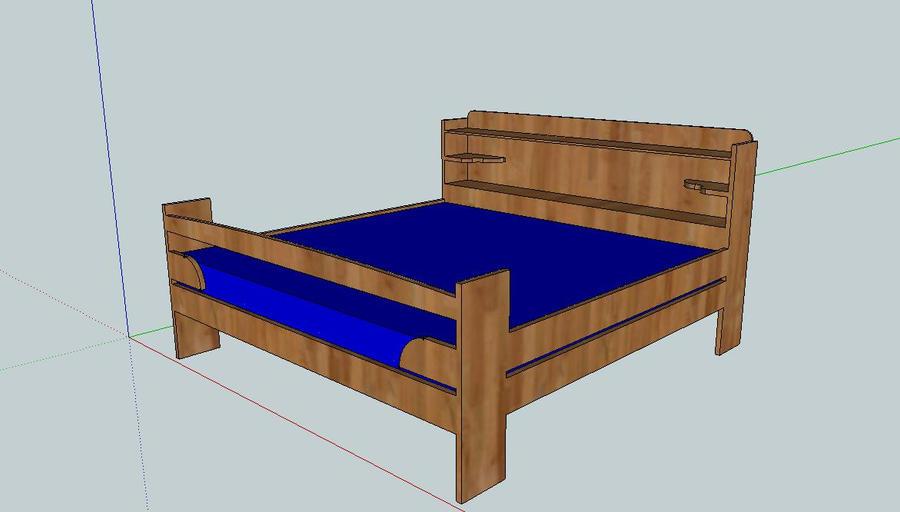 Homemade Queen Bed by LeeeRoooy-Jeeennkins on deviantART