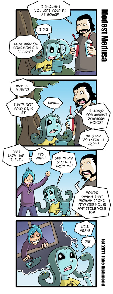 Modest Medusa Vacation Comics part 2 by JakeRichmond