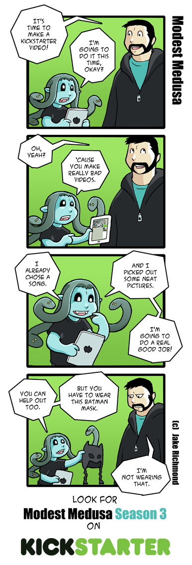 Modest Medusa Season 3 Kickstarter comic by JakeRichmond