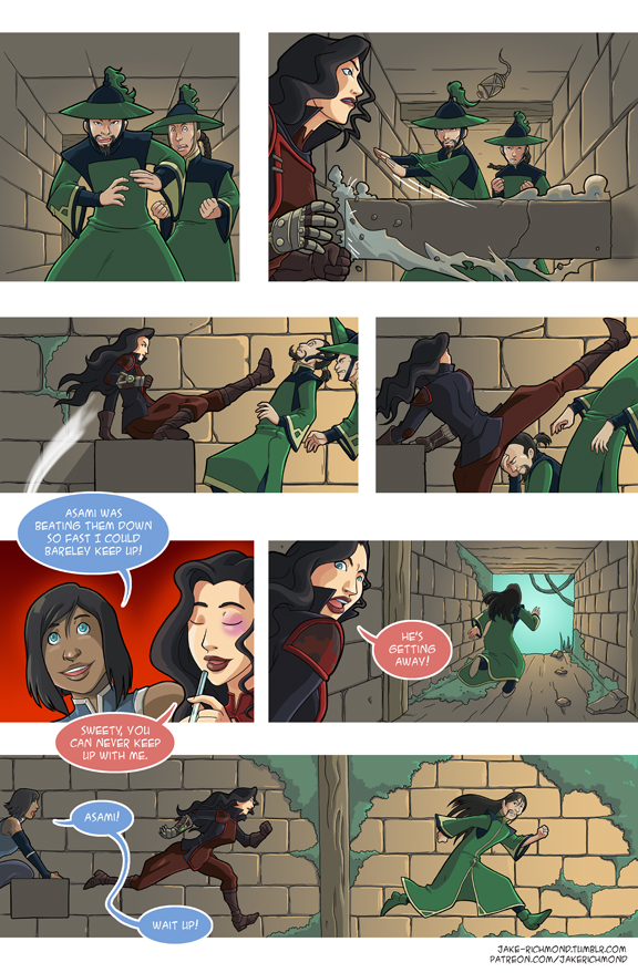 Asami Loves Korra: Battle Couple, part 2 by JakeRichmond