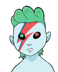 Bowie Modest Medusa by JakeRichmond