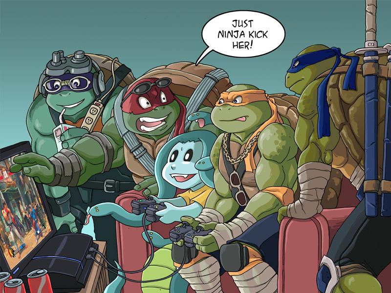 Modest Medusa vs Teenage Mutant Ninja Turtles by JakeRichmond