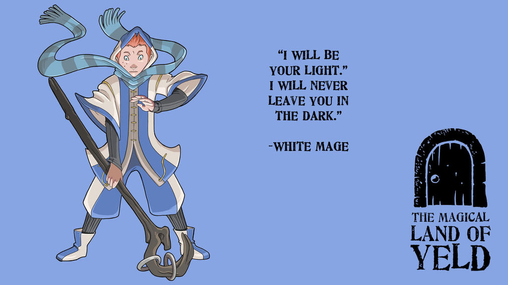 The Magical Land of Yeld White Mage by JakeRichmond