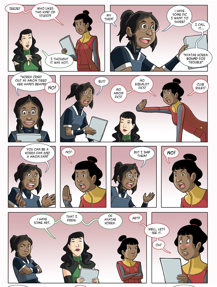 Asami Loves Korra: Fangirls, part 3 by JakeRichmond