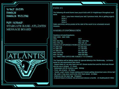 Notes on Atlantis 3