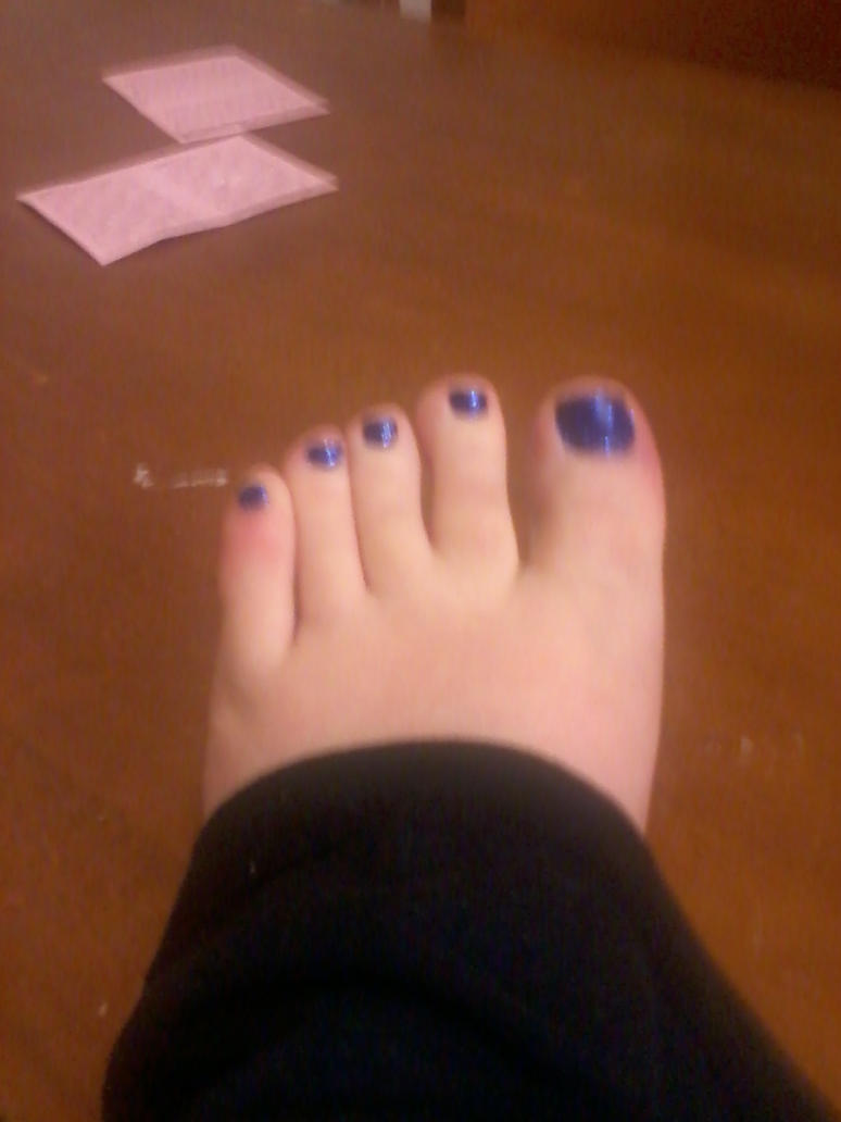 Dark blue glitter toe nails by JinsNails on DeviantArt