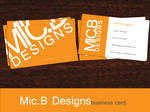 Mic.BDesigns Business Card