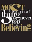 Typography :: Believing