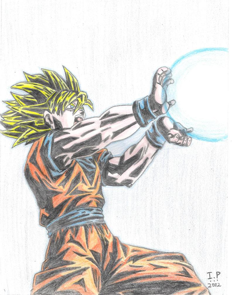SSJ Goku - Kamehameha by Turock-X on DeviantArt