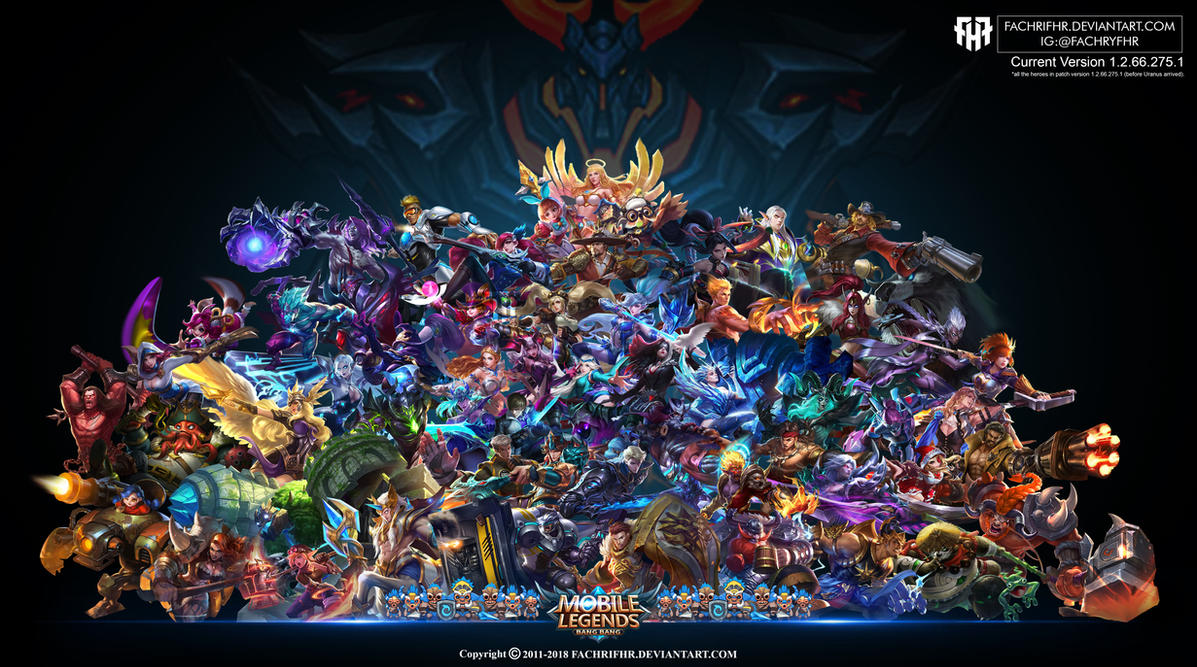 Wallpaper Desktop PC Mobile Legend HD All Hero By FachriFHR On