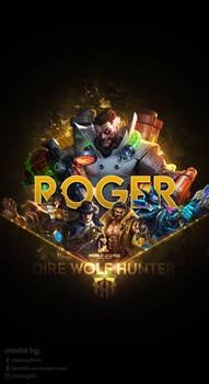 Wallpaper Phone Special Roger Dire Wolf Hunter