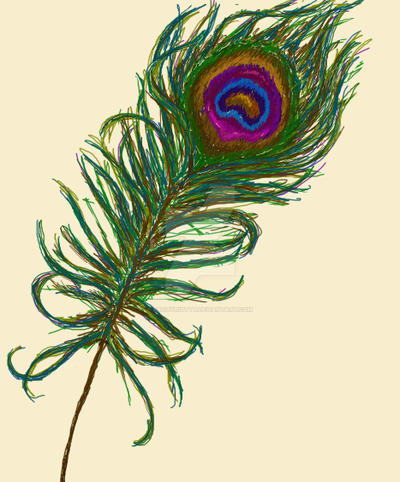 Peacock Feather Table Decorations