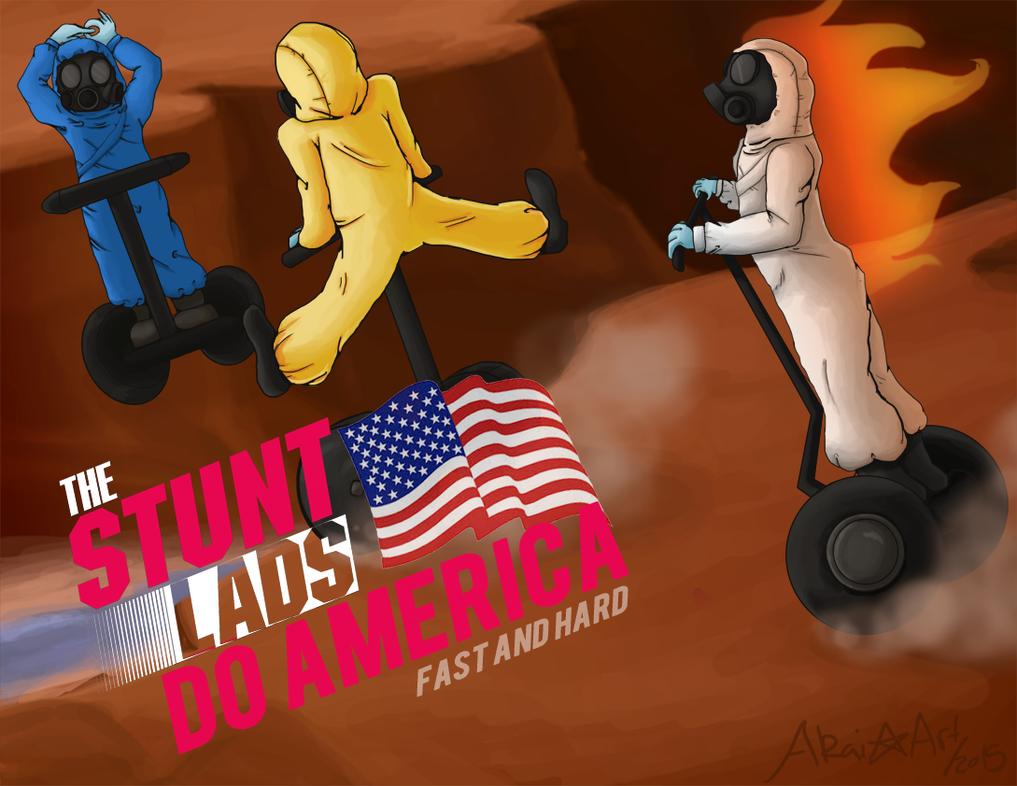 Stunt Lads! by dreamerswork