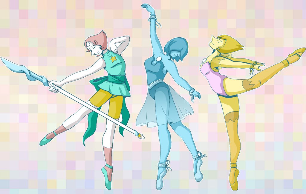Originally I was just going to draw Blue Pearl (in keeping with the trend of drawing my favorite blue gems) but I really enjoyed drawing the different poses and just ended up doing all three lol. T...