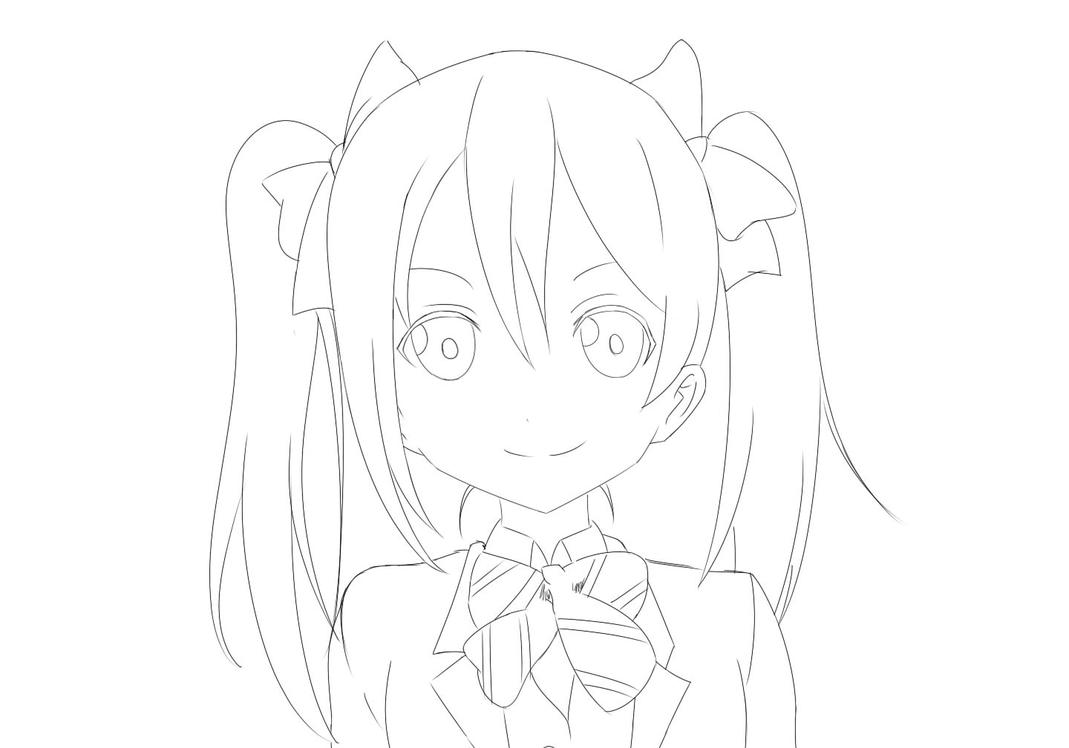 Line Drawing Love : Love live nico line art by nxctus on deviantart