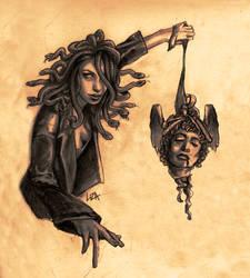 Medusa with Perseus' head