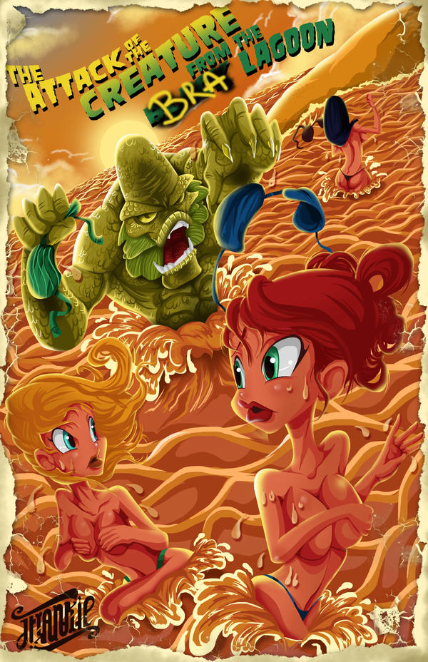 The Attack of the Creature from the Bra Lagoon! by Frank-Cadillac