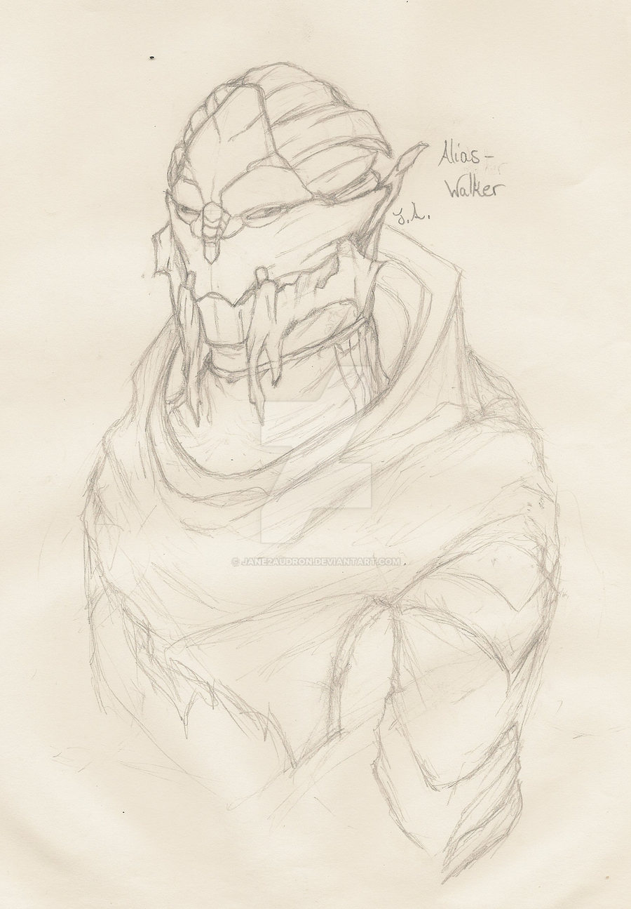 OC: Turian Walker Grs'G'rs by Jane2Audron