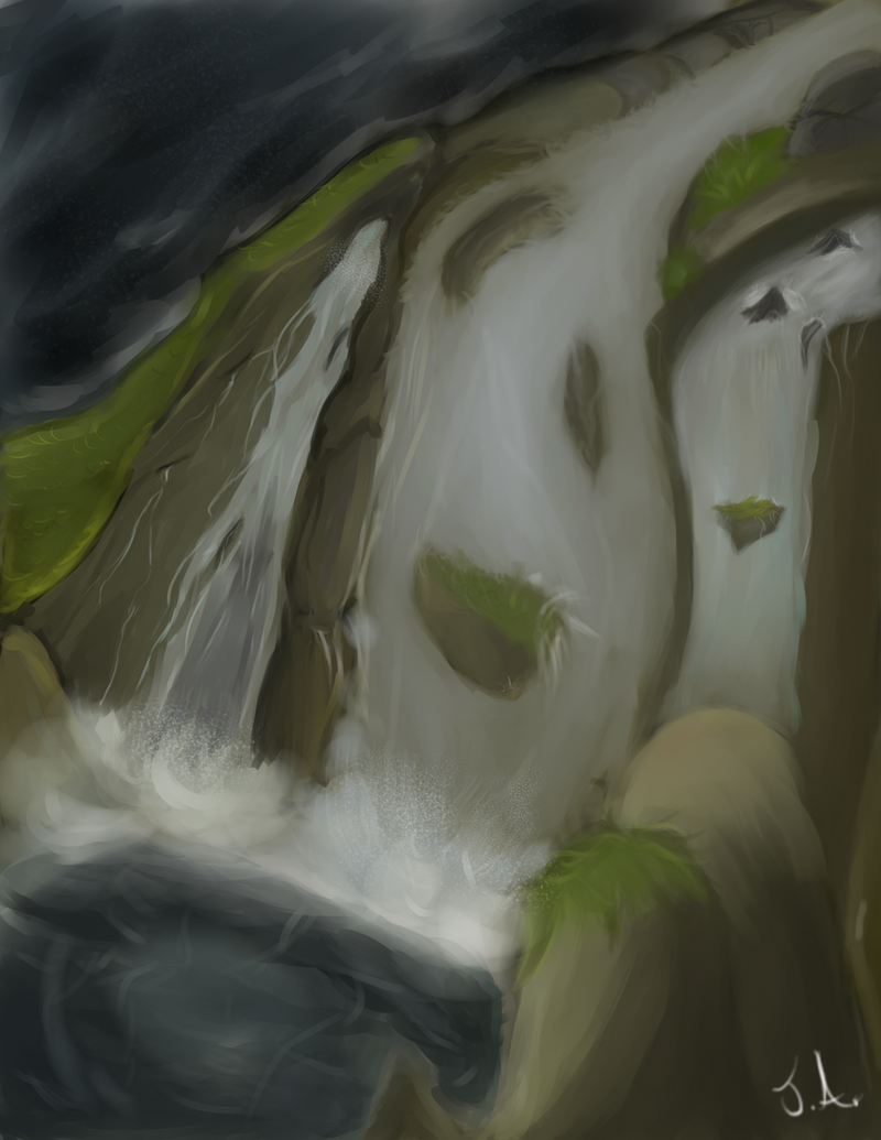 Gift: Waterfall by Jane2Audron